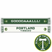 Portland Timbers Ruffneck Goal! Scarf - Green/White <br><b><i>Exclusive Scarf of the Month: April 2014</i></b>