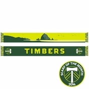 Portland Timbers Ruffneck Haystack Rock Scarf - Green/Yellow <br><b><i>Exclusive Scarf of the Month: July 2014</i></b>