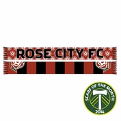 Portland Timbers Ruffneck Rose City FC Scarf - Red/Black <br><b><i>Exclusive Scarf of the Month: June 2014</i></b>