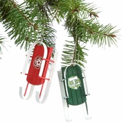 Portland Timbers Sled Ornament 4-Pack - Green/Red