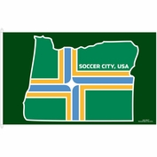 Portland Timbers WinCraft 3'x5' Jock Tag Flag - Green - FINAL SALE