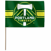 Portland Timbers Wincraft Primary Logo Stick Flag - Green
