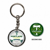 Portland Timbers WinCraft Spinner Keychain - White/Green