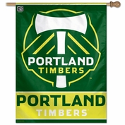 Portland Timbers Wincraft Vertical Banner Flag - Green<br><i><font color=red>Online Exclusive!</i></font>