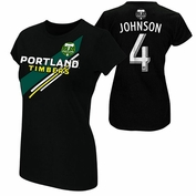 Portland Timbers Women's Will Johnson #4 Name & Number Tee - Black