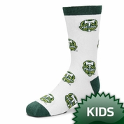 Portland Timbers Kids All-Over Logo Print Socks - White