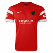 Portland Thorns FC Nike 2014 Adult Authentic Home Jersey - Red <br><b><i>Choose a player or Personalize your jersey!</i></b>
