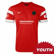 Portland Thorns FC Nike 2014 Youth Authentic Home Jersey - Red <br><b><i>Choose a player or Personalize your jersey!</i></b>