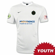 Portland Thorns FC Nike 2014 Youth Authentic Away Jersey - White <br><b><i>Choose a player or Personalize your jersey!</i></b>