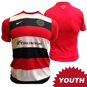 PRE-ORDER: SHIPS AUGUST 15TH<br><br>Portland Thorns FC Nike Youth Pre-Match Warmup Jersey - Red/Black/White <br><b><i>Choose a player or Personalize your jersey!</i></b>