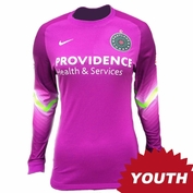 Portland Thorns FC Nike Youth Goalkeeper Long Sleeve Jersey - Purple <br><b><i>Choose a player or Personalize your jersey!</i></b>