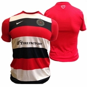 PRE-ORDER: SHIPS AUGUST 15TH<br><br>Portland Thorns FC Nike Men's Pre-Match Warmup Jersey - Red/Black/White <br><b><i>Choose a player or Personalize your jersey!</i></b>