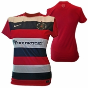 PRE-ORDER: SHIPS AUGUST 5TH<br><br>Portland Thorns FC Nike Women's Pre-Match Warmup Jersey - Red/Black/White <br><b><i>Choose a player or Personalize your jersey!</i></b>