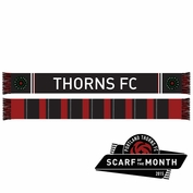 Portland Thorns FC Scarf - Red/Black <br><b><i>Exclusive Scarf of the Month: April 2015</i></b>