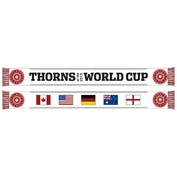 <b><i>Limited Edition</i></b> - Portland Thorns FC 2015 Women's World Cup Scarf - White