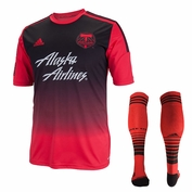 Portland Timbers Replica Secondary Kit & Authentic Secondary Game Sock Combo - Red - FINAL SALE
