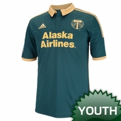 Portland Timbers adidas 2014 Youth Replica Short Sleeve Third Jersey - Green<br><b><i>Choose a player or Personalize your jersey!</i></b>