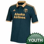 Portland Timbers adidas 2015 Youth Replica Short Sleeve Third Jersey - Green <br><b><i>Choose a player or Personalize your jersey!</i></b>