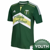 <b><i>Pre-Order: Ships April 15th</b></i> - Portland Timbers adidas 2015 Youth Replica Short Sleeve Primary Jersey - Green<br><b><i>Choose a player or Personalize your jersey!</i></b>