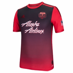 Portland Timbers adidas 2014 Authentic Short Sleeve Secondary Jersey - Red/Black<br><b><i>Choose a player or Personalize your jersey!</i></b> - Click to enlarge