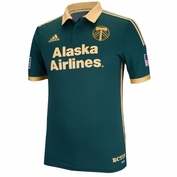Portland Timbers adidas 2014 Authentic Short Sleeve Third Jersey - Green<br><b><i>Choose a player or Personalize your jersey!</i></b> <br><b><i>Pre-Order: Ships August 20th</i></b>