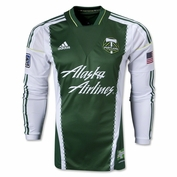Portland Timbers adidas 2013-2014 Authentic Long Sleeve Primary Jersey - Green <br><b><i>Choose a player or Personalize your jersey!</i></b>