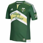 Portland Timbers adidas 2015 Authentic Short Sleeve Primary Jersey - Green <br><b><i>Choose a player or Personalize your jersey!</i></b>