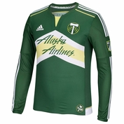 Portland Timbers adidas 2015 Authentic Long Sleeve Primary Jersey - Green <br><b><i>Choose a player or Personalize your jersey!</i></b>