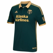 Portland Timbers adidas 2015 Authentic Short Sleeve Third Jersey - Green <br><b><i>Choose a player or Personalize your jersey!</i></b>