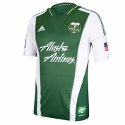 Portland Timbers adidas 2013-2014 Authentic Short Sleeve Primary Jersey - Green <br><b><i>Choose a player or Personalize your jersey!</i></b>