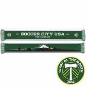 Portland Timbers Ruffneck Mt. Hood Cityscape Scarf - Green/White<br><b><i>Exclusive Scarf of the Month: March 2014</i></b>