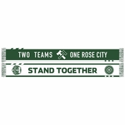 Portland Timbers & Portland Thorns FC Ruffneck Two Teams One Rose City Stand Together Scarf - Green/White