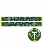 Portland Timbers Ruffneck Snowflake Scarf - Green <br><b><i>Exclusive Scarf of the Month: December 2014</i></b>