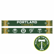 <b><i>Pre-Order: Ships March 9th</i></b> - Portland Timbers Ruffneck 5/40 Legends Scarf - Green/Gold  <br><b><i>Exclusive Scarf of the Month: March 2015</i></b>