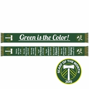 Portland Timbers Ruffneck 'Green Is The Color' Scarf - Green/Gold<br><b><i>Exclusive Scarf of the Month: April 2015</i></b>