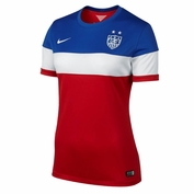 U.S. National Team Nike Dri-FIT Women's Away Jersey - Red/White/Blue