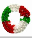 Large Plastic Garland, Tricolor