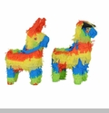 Mini Fiesta Pinata Assorted, 9 Burro, 9 Bull