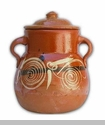 Small clay pot w/lid - Olla de Barro con Tapa