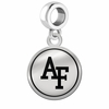Air Force Falcons Border Round Dangle Charm