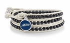 Akron Zips Black and White Wrap Bracelet