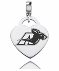 Akron Zips Engraved Heart Dangle Charm