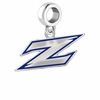Akron Zips Silver Logo and School Color Drop Charm