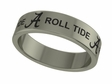Alabama Crimson Tide Stainless Steel Ring