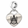 Alabama A&M Heart Dangle Charm