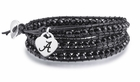 Alabama Crimson Tide Black Leather Wrap
