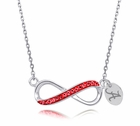Alabama Crystal Infinity Necklace