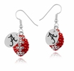All Crystal Football Earrings
