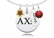 Alpha Chi Omega Cluster Necklace With Flower, Color and Love