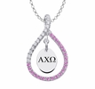 Alpha Chi Omega Pink Figure 8 Necklace